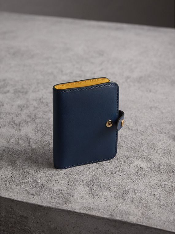 Equestrian Shield Leather Card Case in Mid Indigo | Burberry - cell image 2