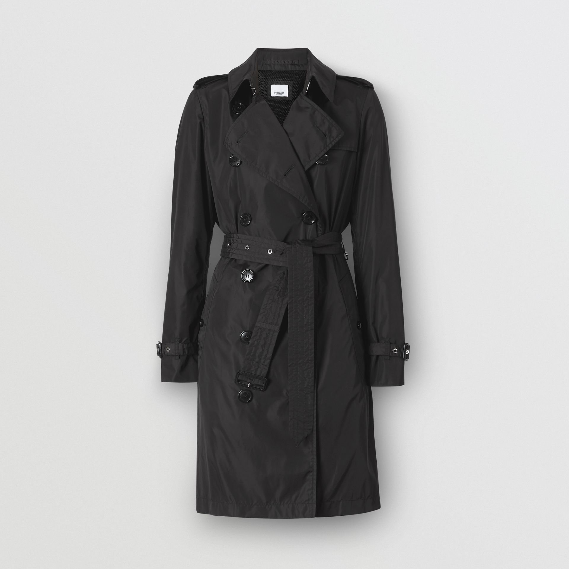 Detachable Hood ECONYL® Trench Coat in Black - Women | Burberry United Kingdom - gallery image 3