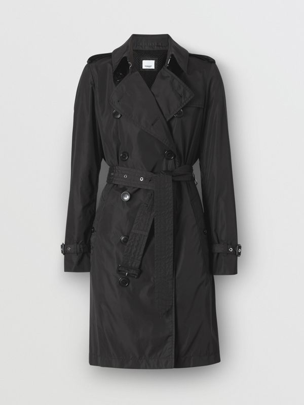 Detachable Hood ECONYL® Trench Coat in Black - Women | Burberry Singapore - cell image 3