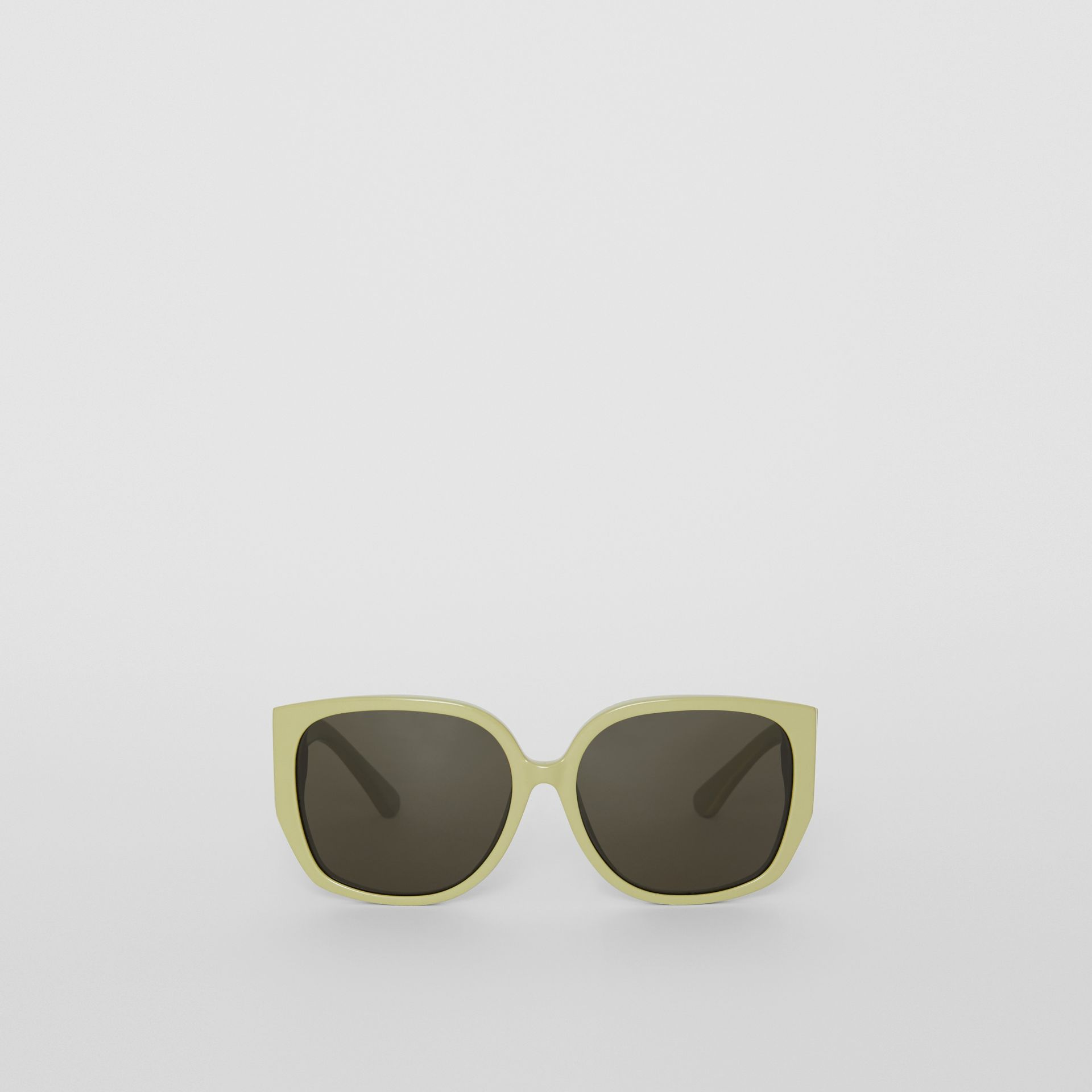 Oversized Butterfly Frame Sunglasses in Pistachio - Women | Burberry United States - gallery image 0