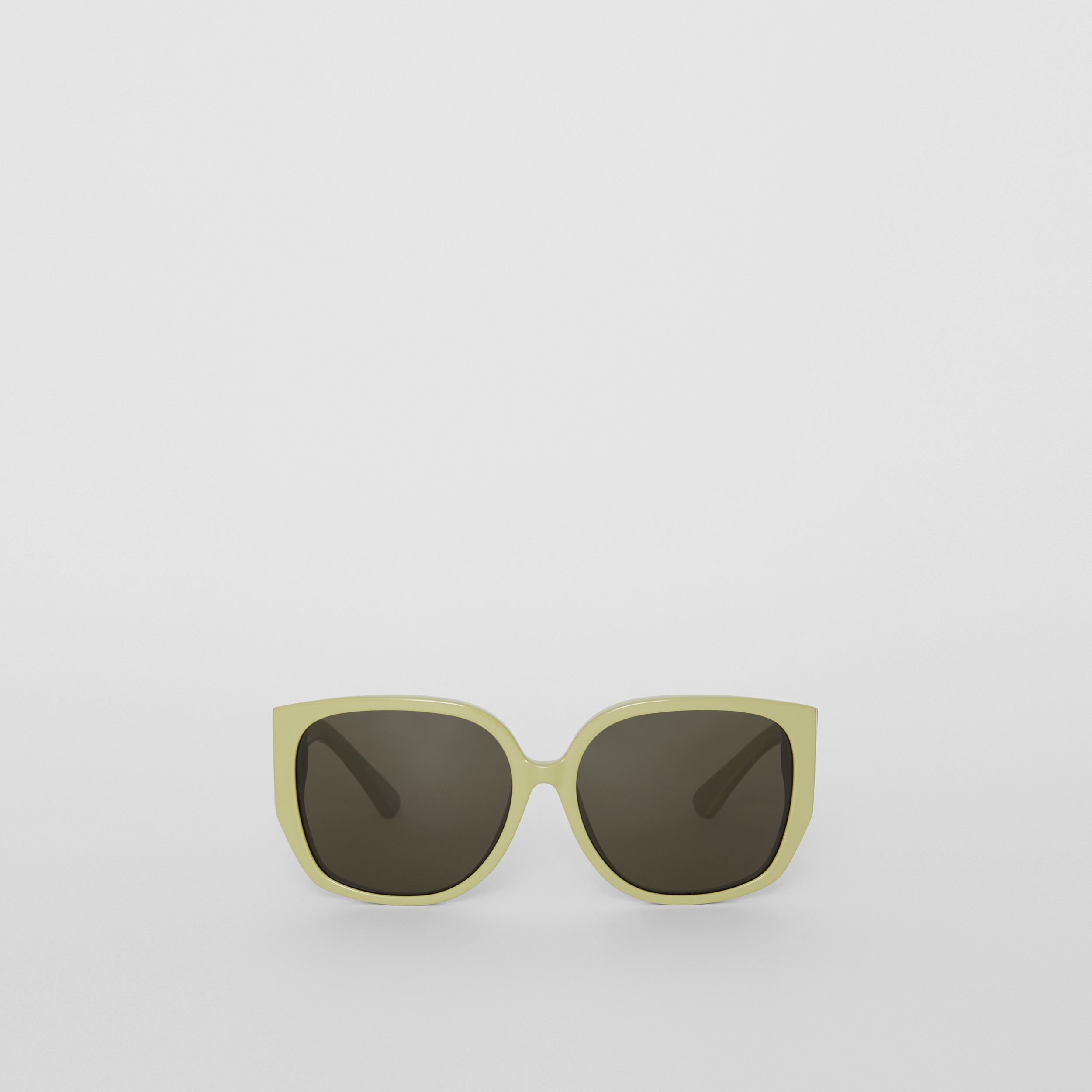 Oversized Butterfly Frame Sunglasses in Pistachio - Women | Burberry Hong Kong S.A.R. - 1