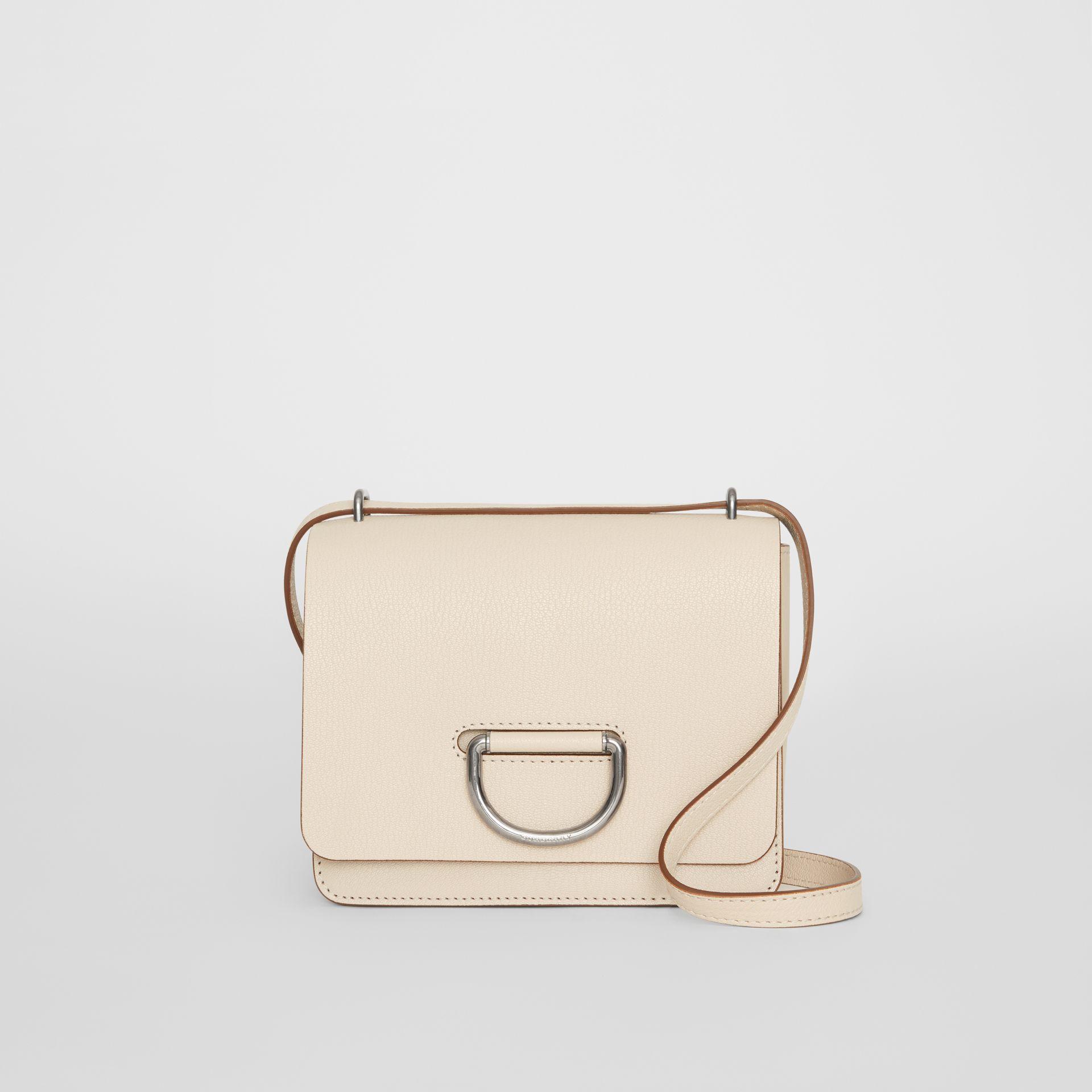 The Small Leather D-ring Bag in Stone - Women | Burberry - gallery image 0
