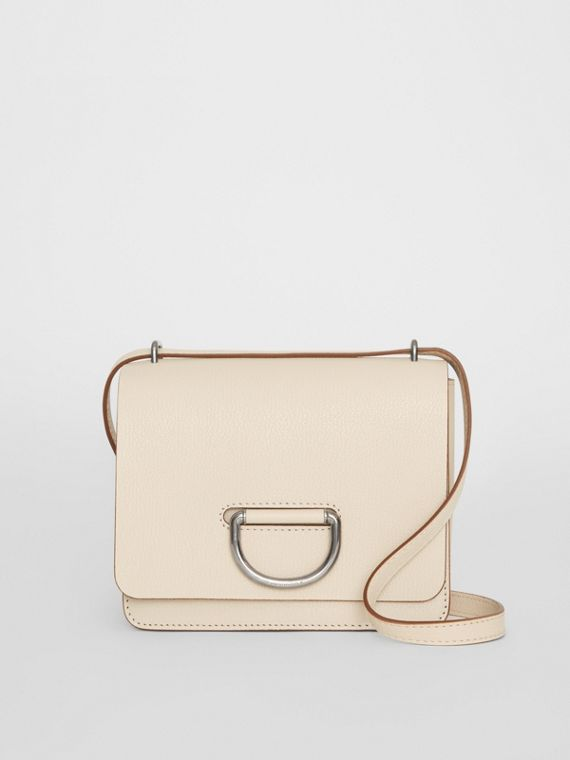 The Small Leather D-ring Bag in Stone