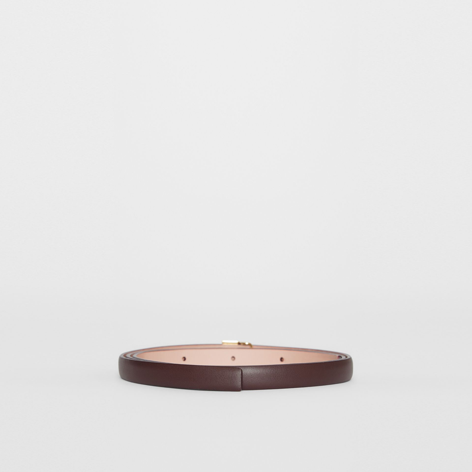 Reversible Monogram Motif Leather Wrap Belt in Oxblood/rose Beige - Women | Burberry - gallery image 4