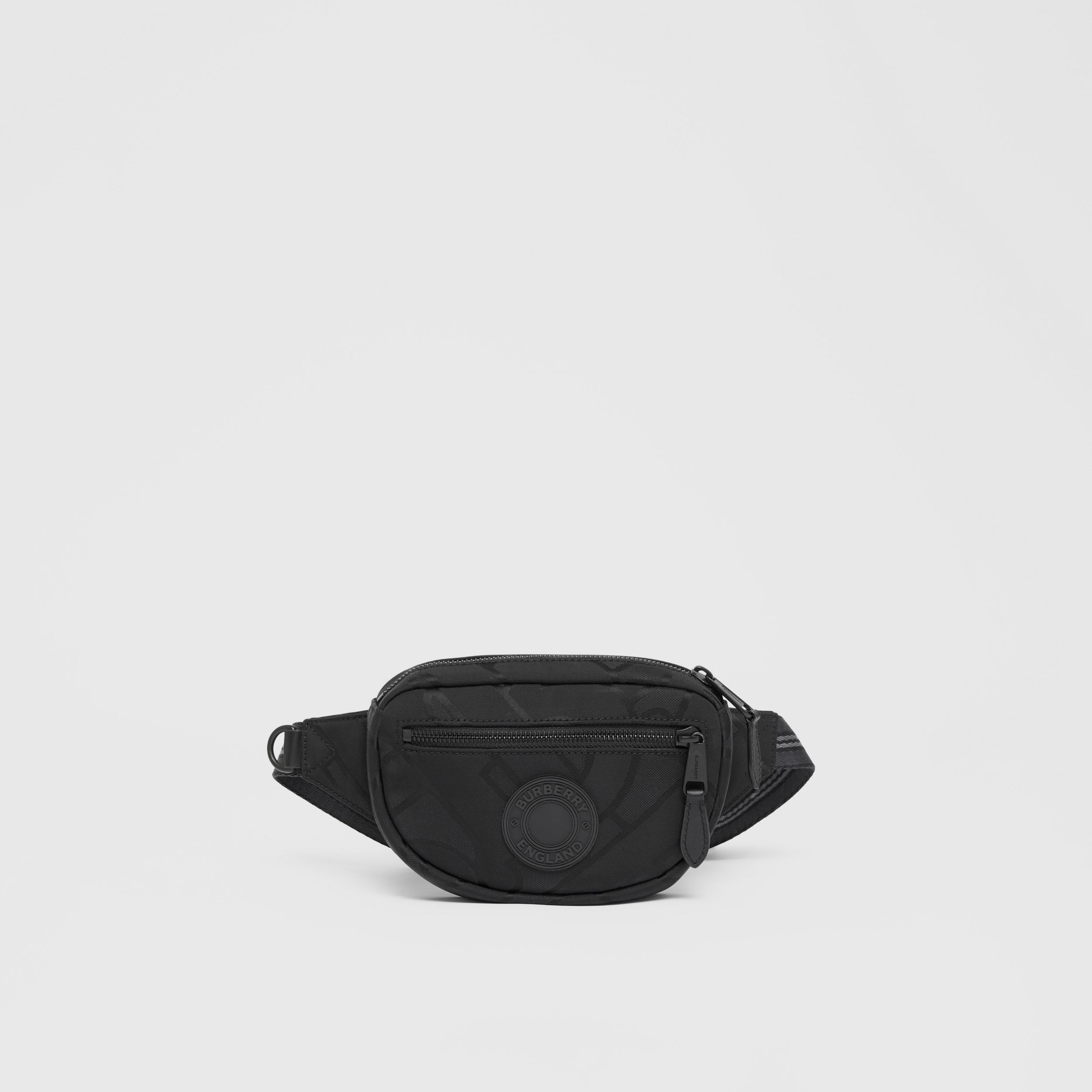 Small Monogram Recycled Polyester Cannon Bum Bag - Men | Burberry - 1