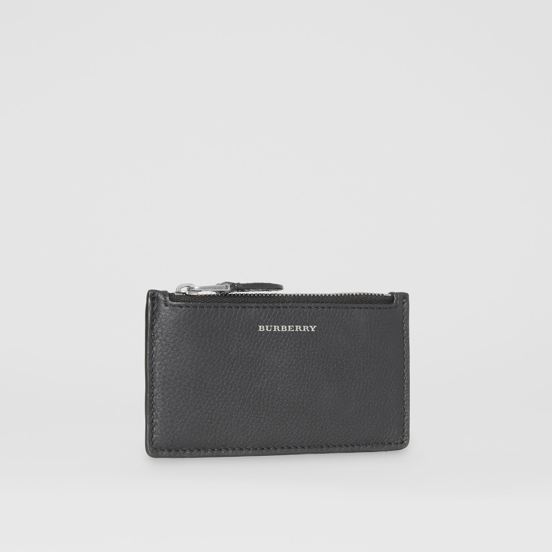 Two-tone Leather Zip Card Case in Black | Burberry Hong Kong S.A.R - gallery image 3