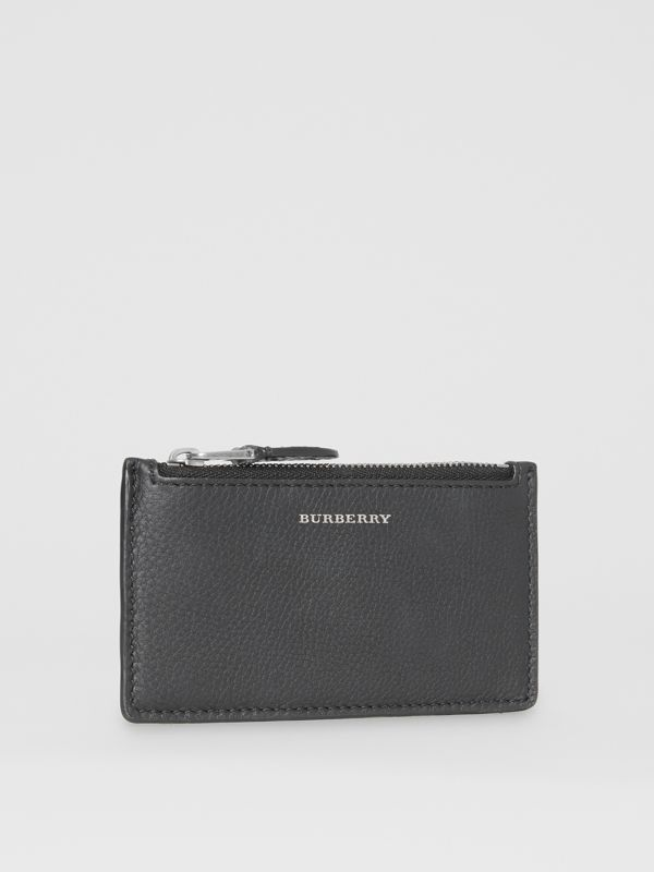 Two-tone Leather Zip Card Case in Black | Burberry Hong Kong S.A.R - cell image 3