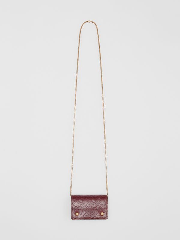 Porte-cartes en cuir Monogram avec sangle amovible (Oxblood) | Burberry - cell image 3