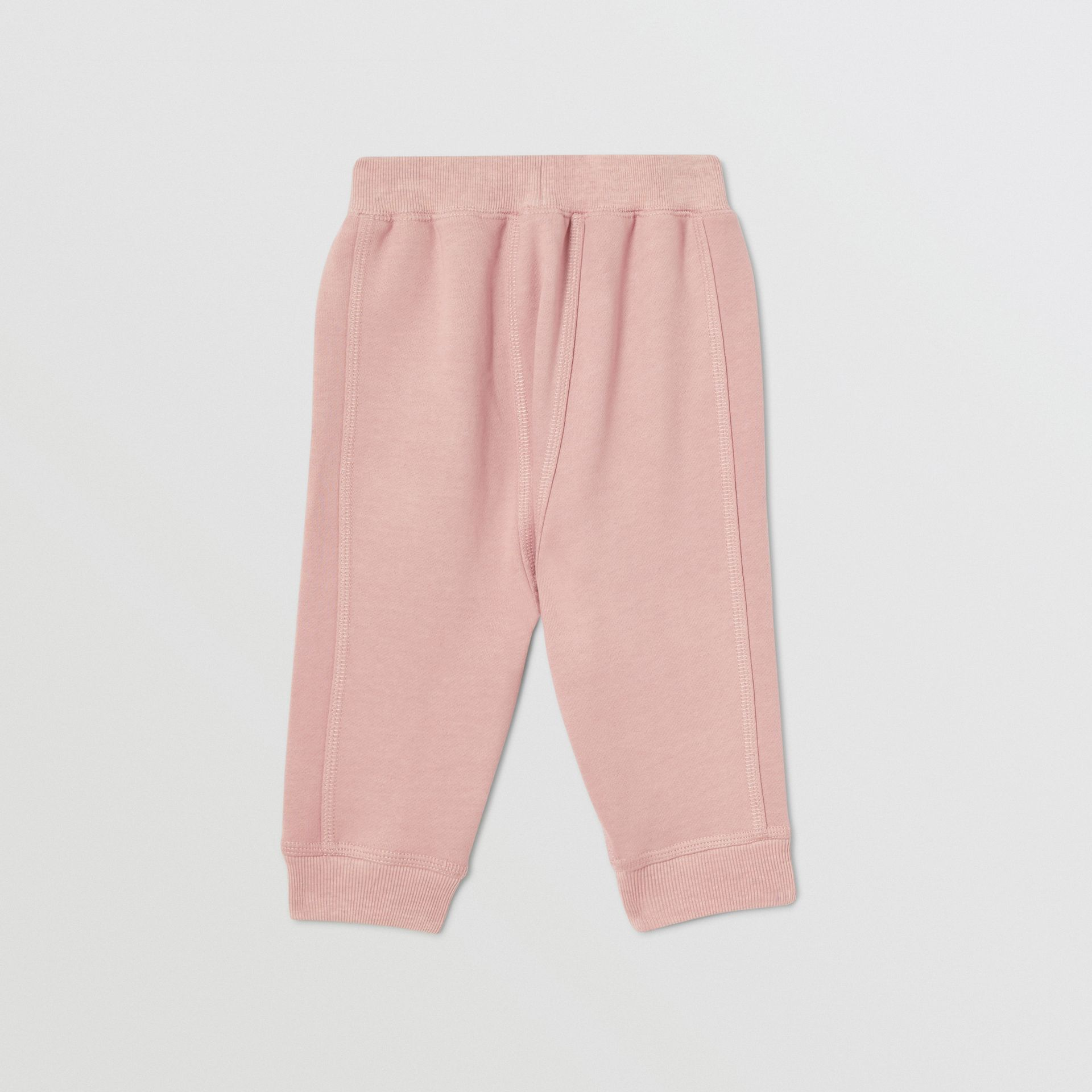 Diamond Quilted Detail Cotton Trackpants in Lavender Pink - Children | Burberry Singapore - gallery image 3