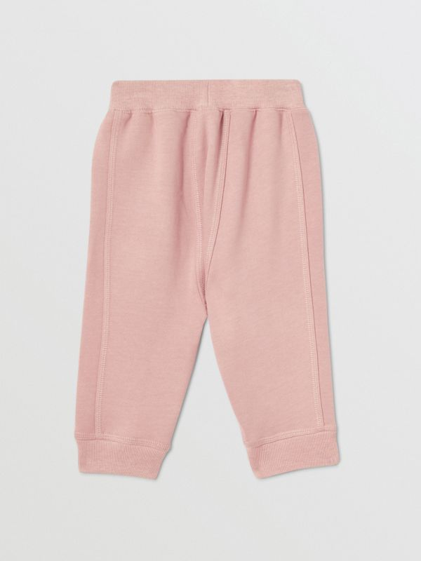 Diamond Quilted Detail Cotton Trackpants in Lavender Pink - Children | Burberry - cell image 3