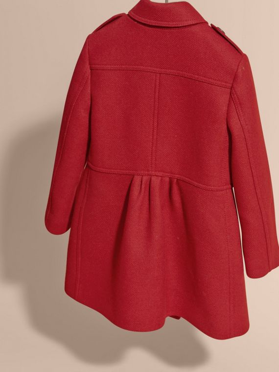 Damson red Tailored Wool Cashmere Blend Coat - cell image 3
