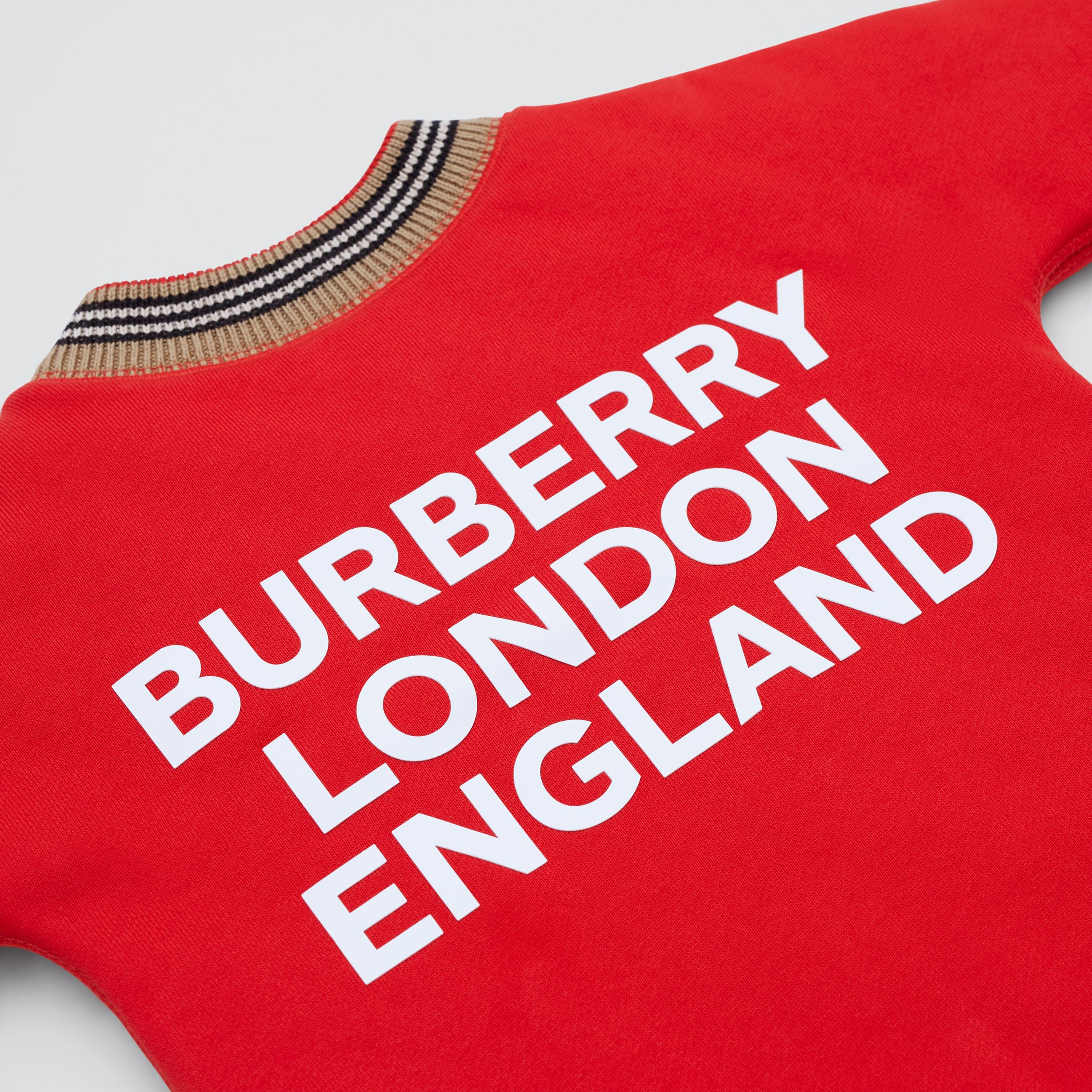 Icon Stripe Trim Cotton Jumpsuit - Children | Burberry - 2