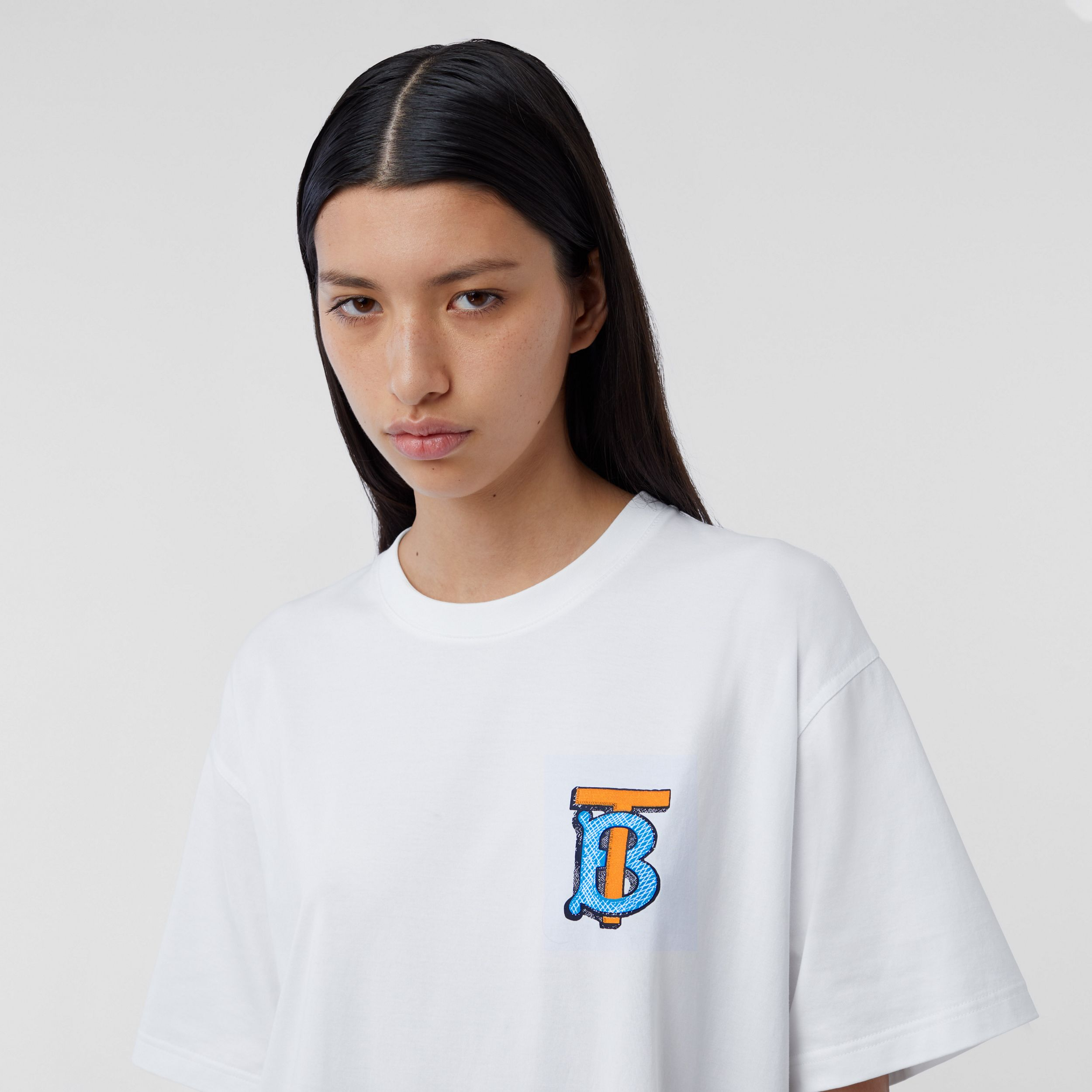 Monogram Motif Cotton T-shirt – Unisex in White | Burberry Australia - 2