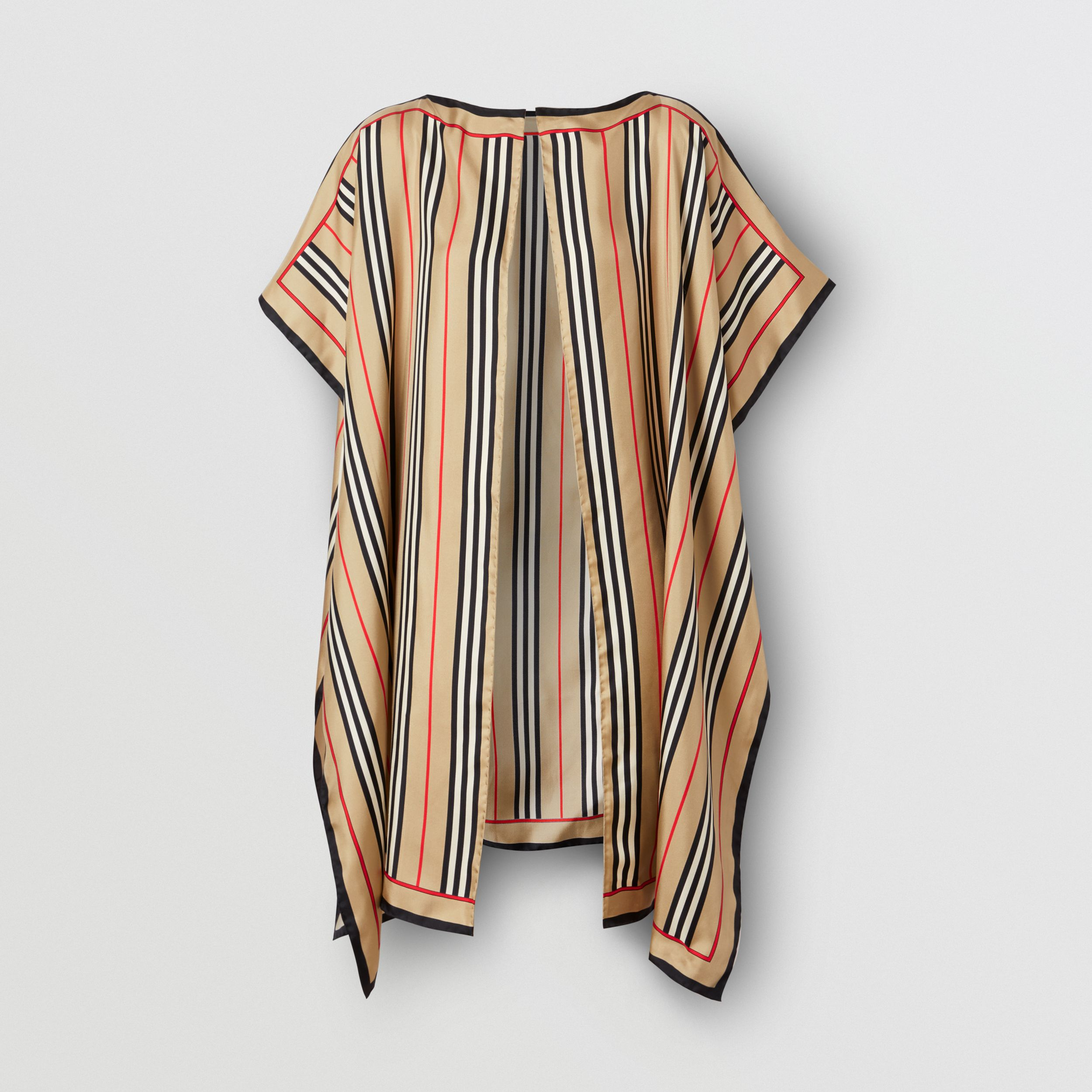 Icon Stripe Print Silk Twill Cape - Women | Burberry - 2