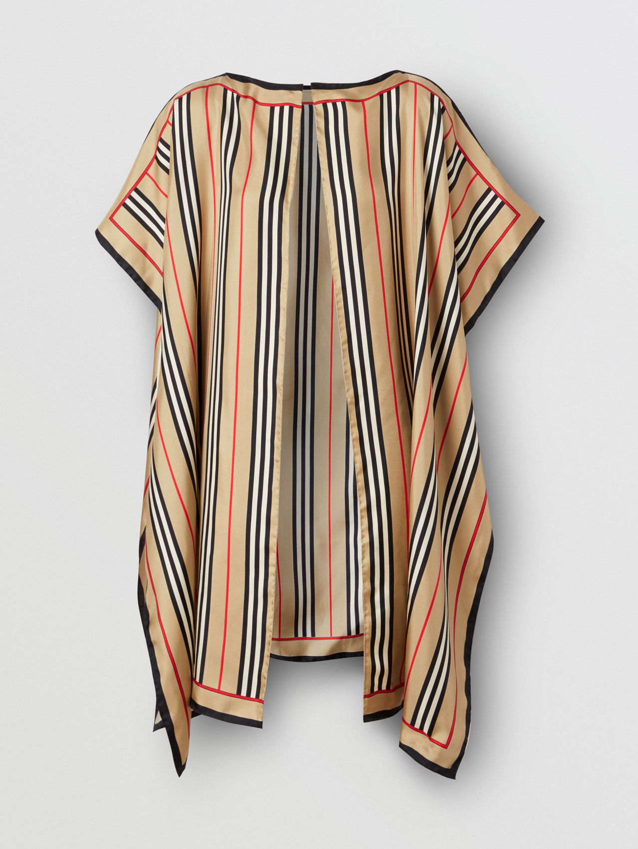 Icon Stripe Print Silk Twill Cape