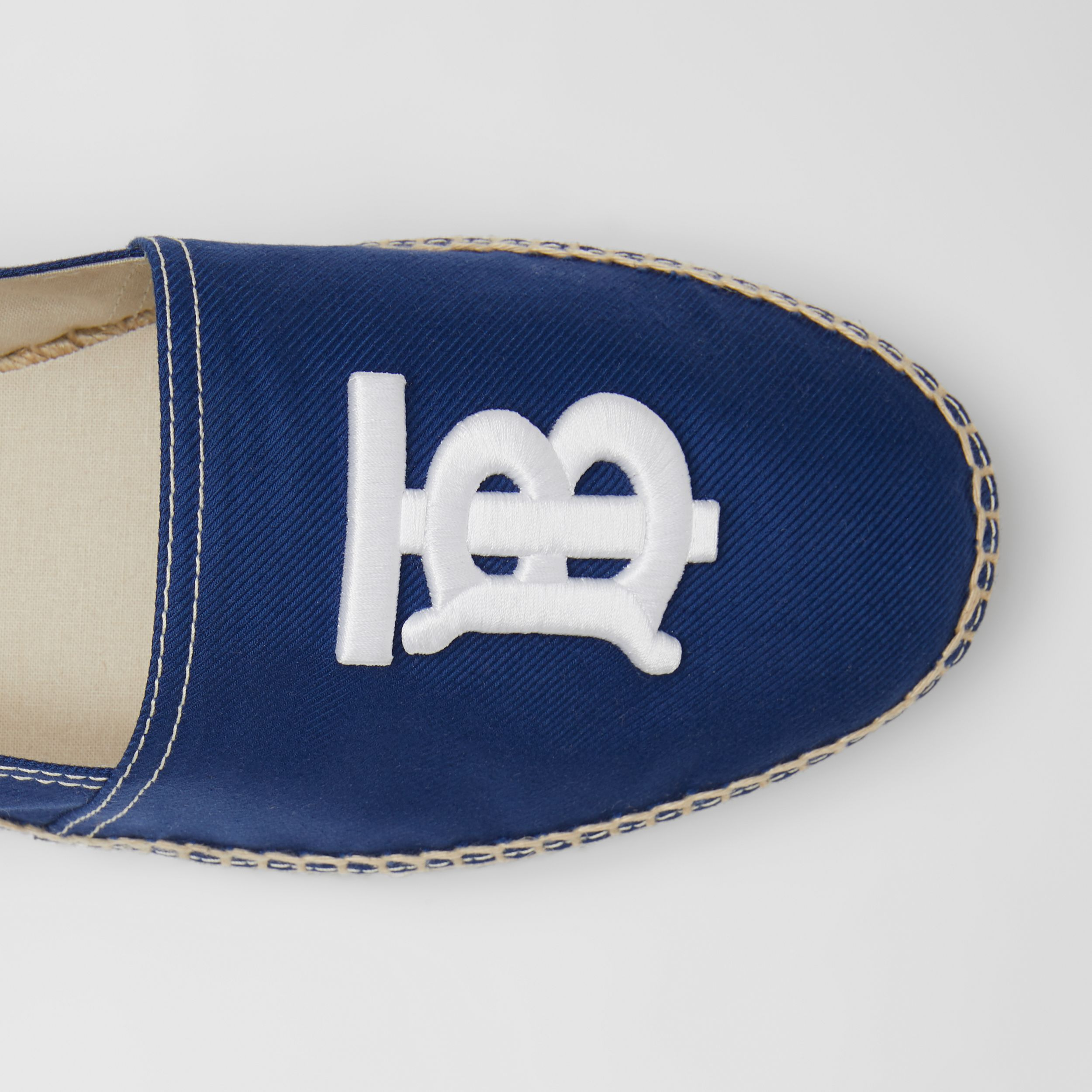 Monogram Motif Cotton Canvas Espadrilles in Navy - Men | Burberry - 2