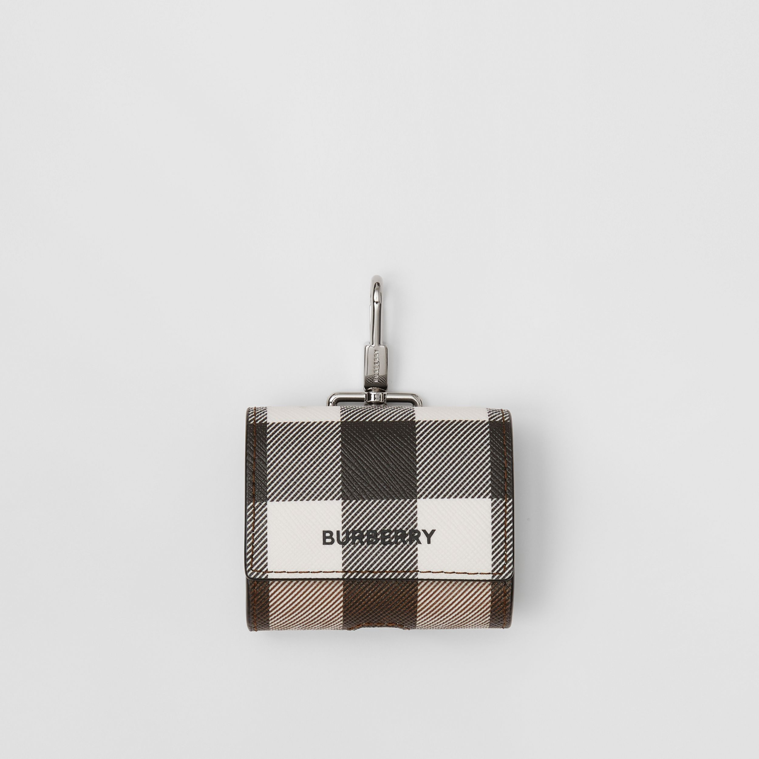 Check E-canvas AirPods Pro Case in Dark Birch Brown | Burberry - 1