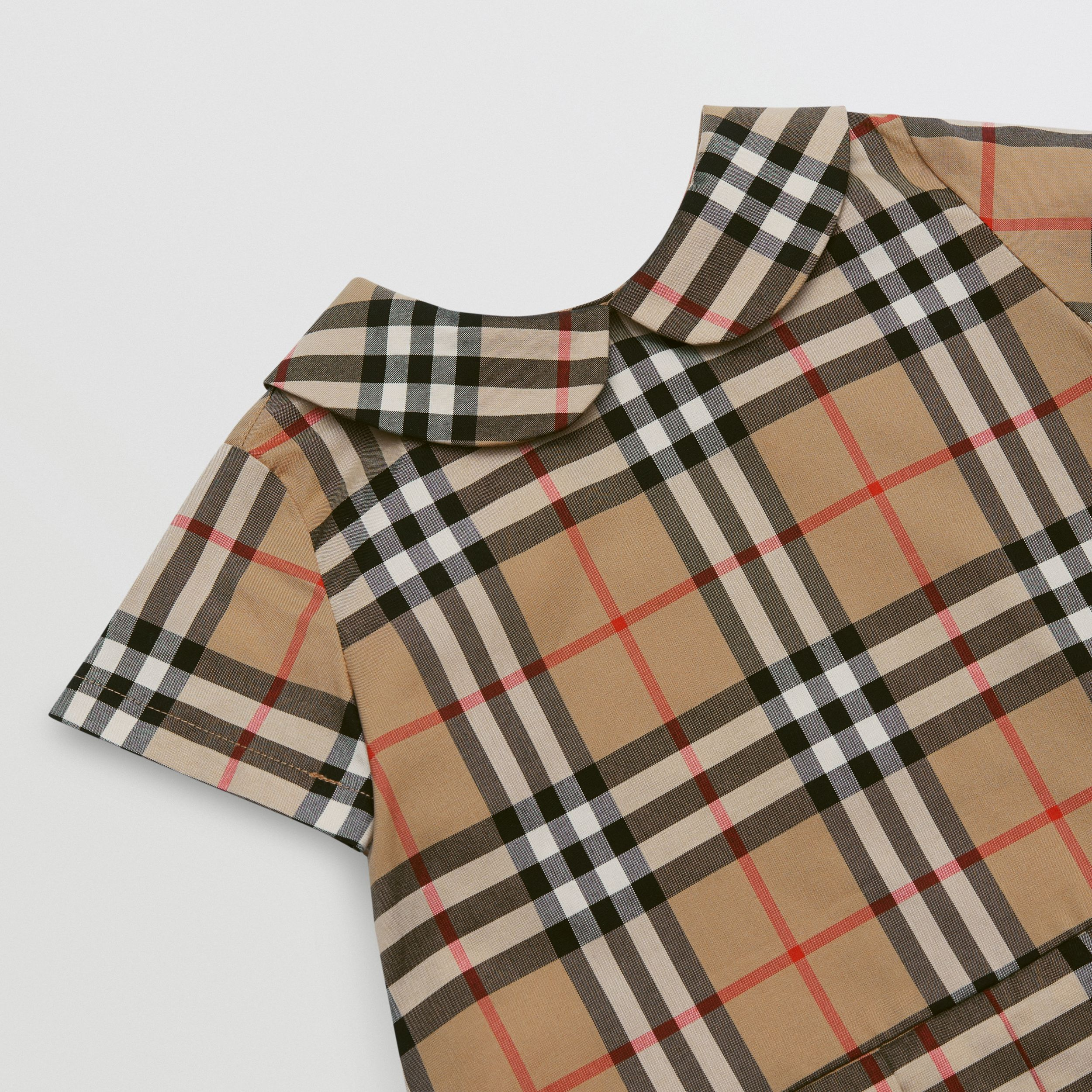Vestitino in cotone con colletto Peter Pan e motivo Vintage check - Bambini | Burberry - 2