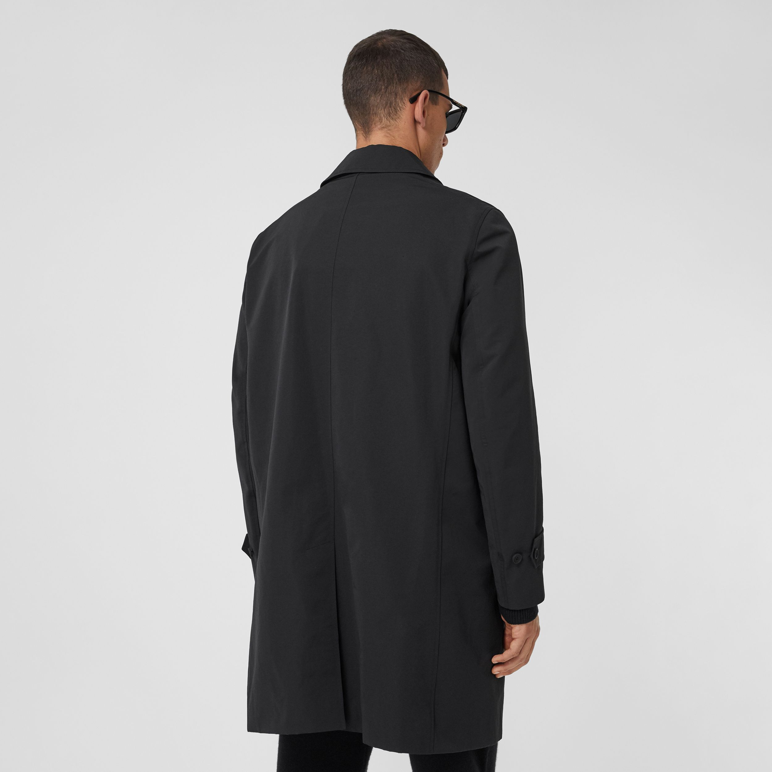 Technical Cotton Car Coat with Detachable Warmer in Black - Men | Burberry - 3