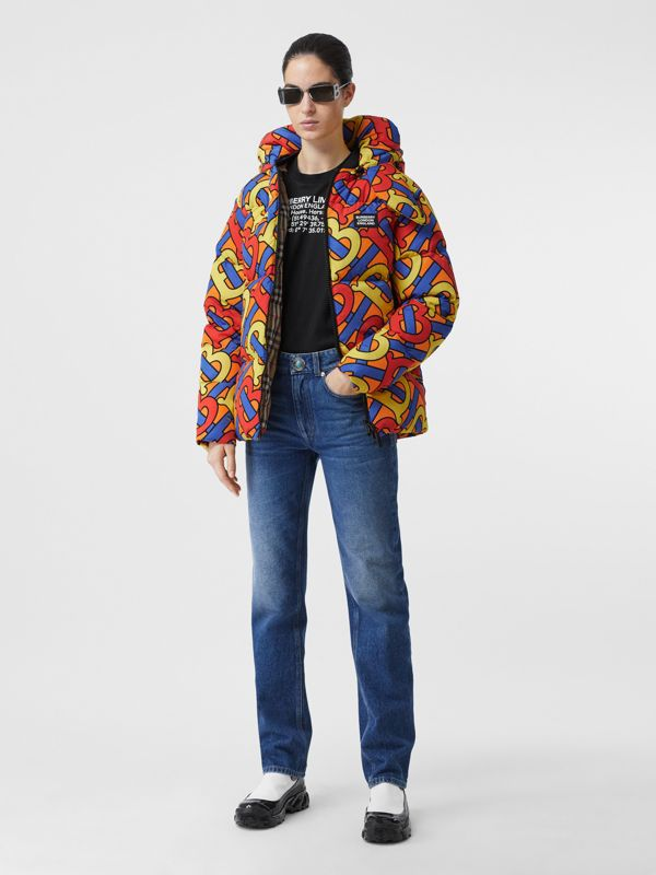 Monogram Print Puffer Jacket in Multicolour | Burberry - cell image 2