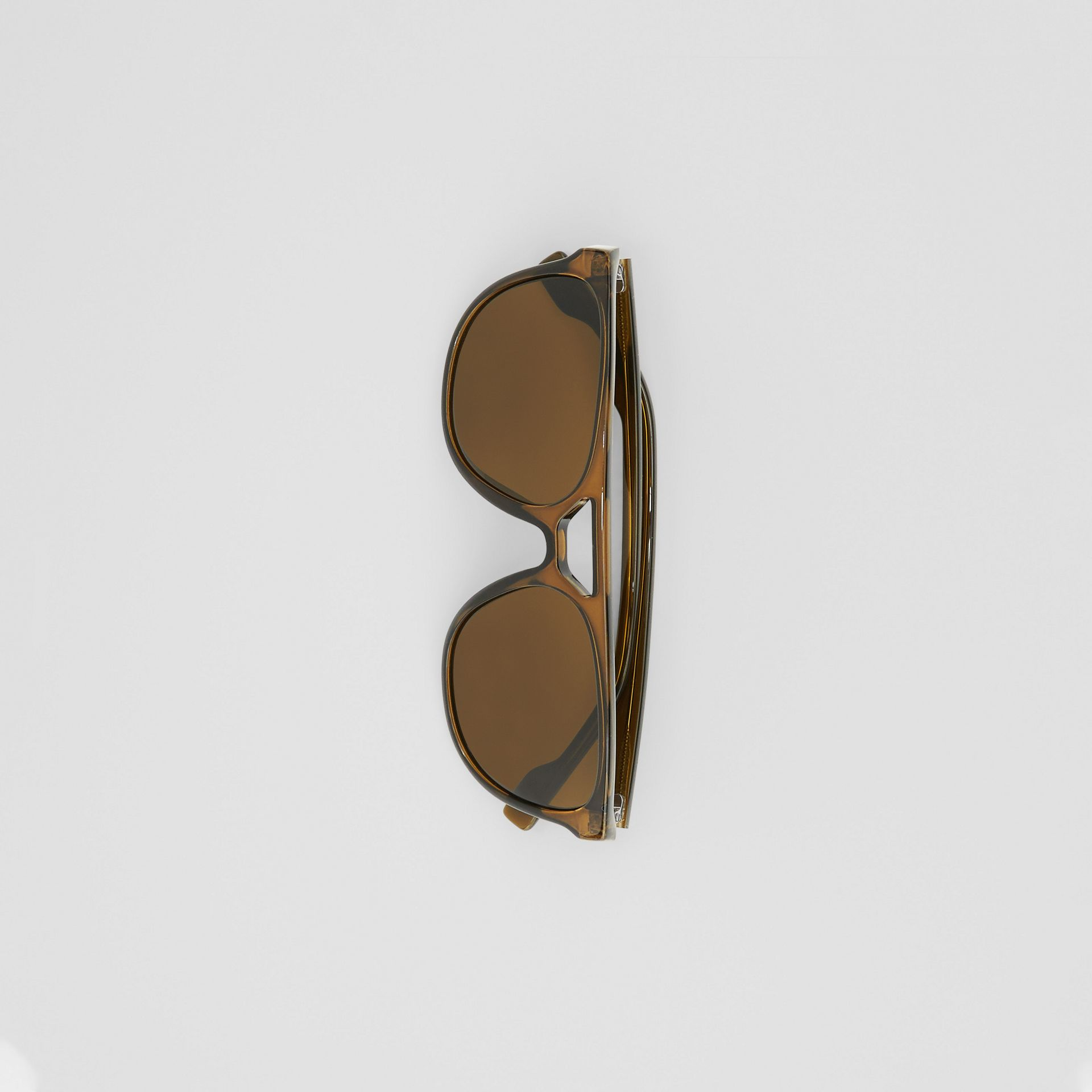 Navigator Sunglasses in Olive Green - Men | Burberry - gallery image 3