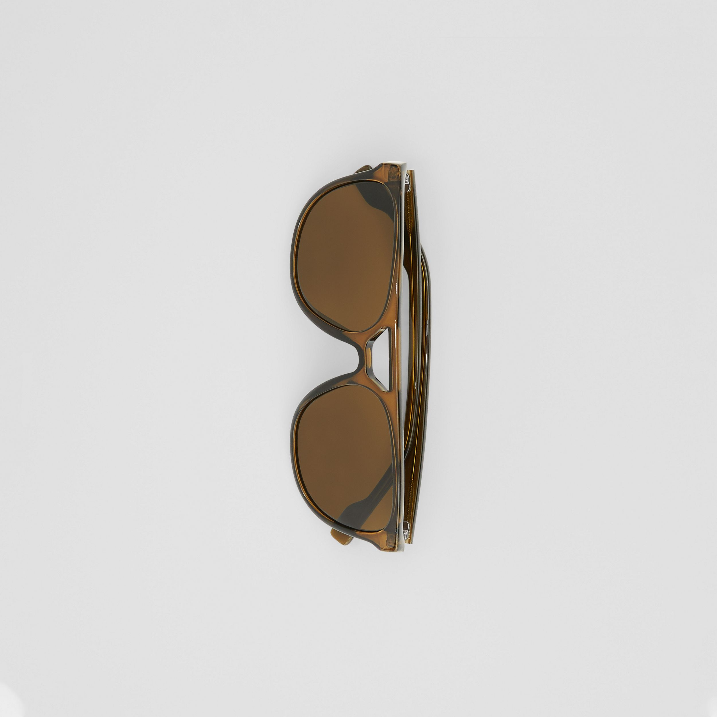 Navigator Sunglasses in Olive Green - Men | Burberry - 4