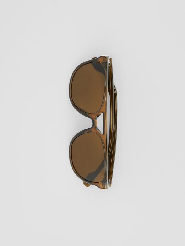 Navigator Sunglasses in Olive Green - Men | Burberry United Kingdom - cell image 3