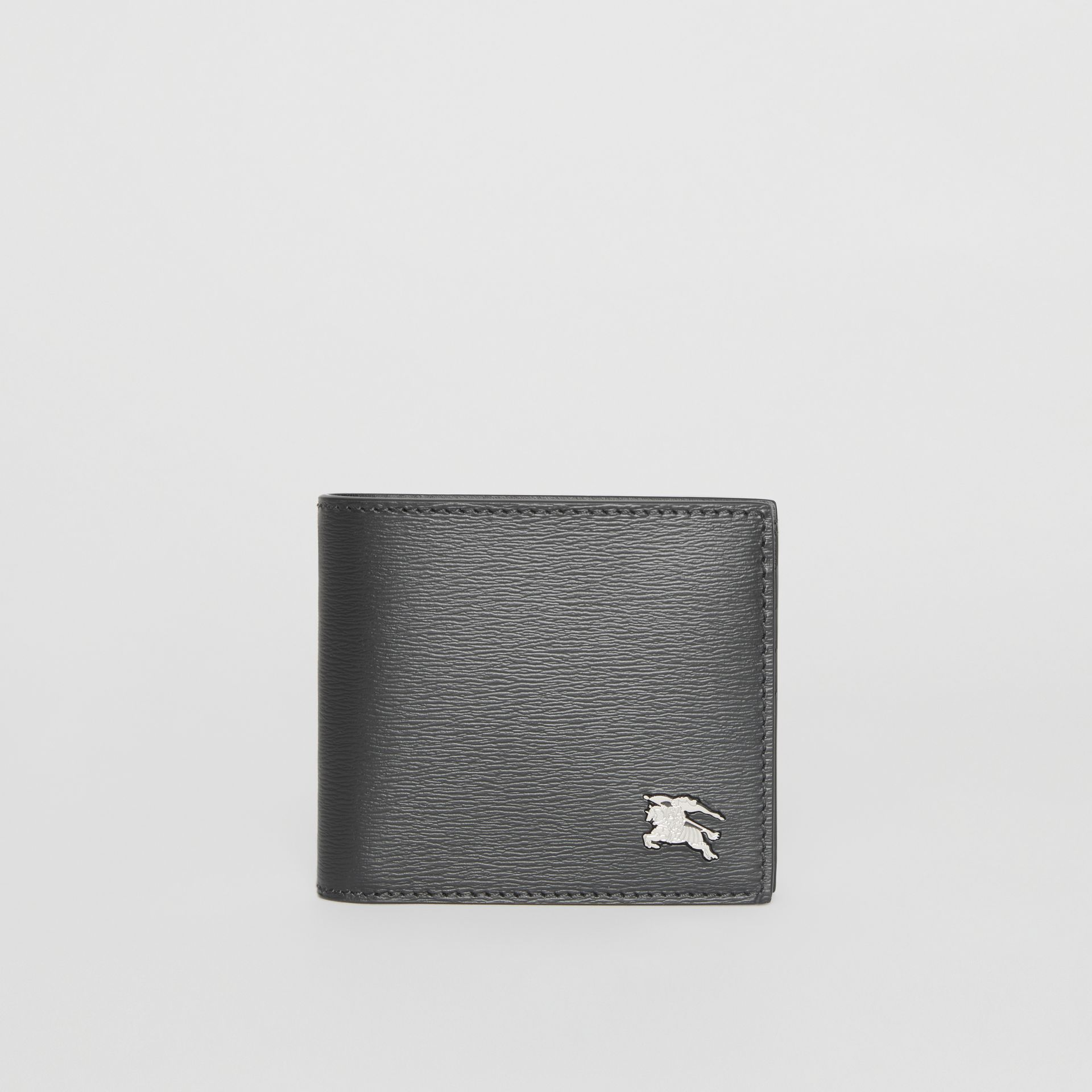 EKD London Leather Bifold Wallet with ID Card Case in Black - Men | Burberry - gallery image 2