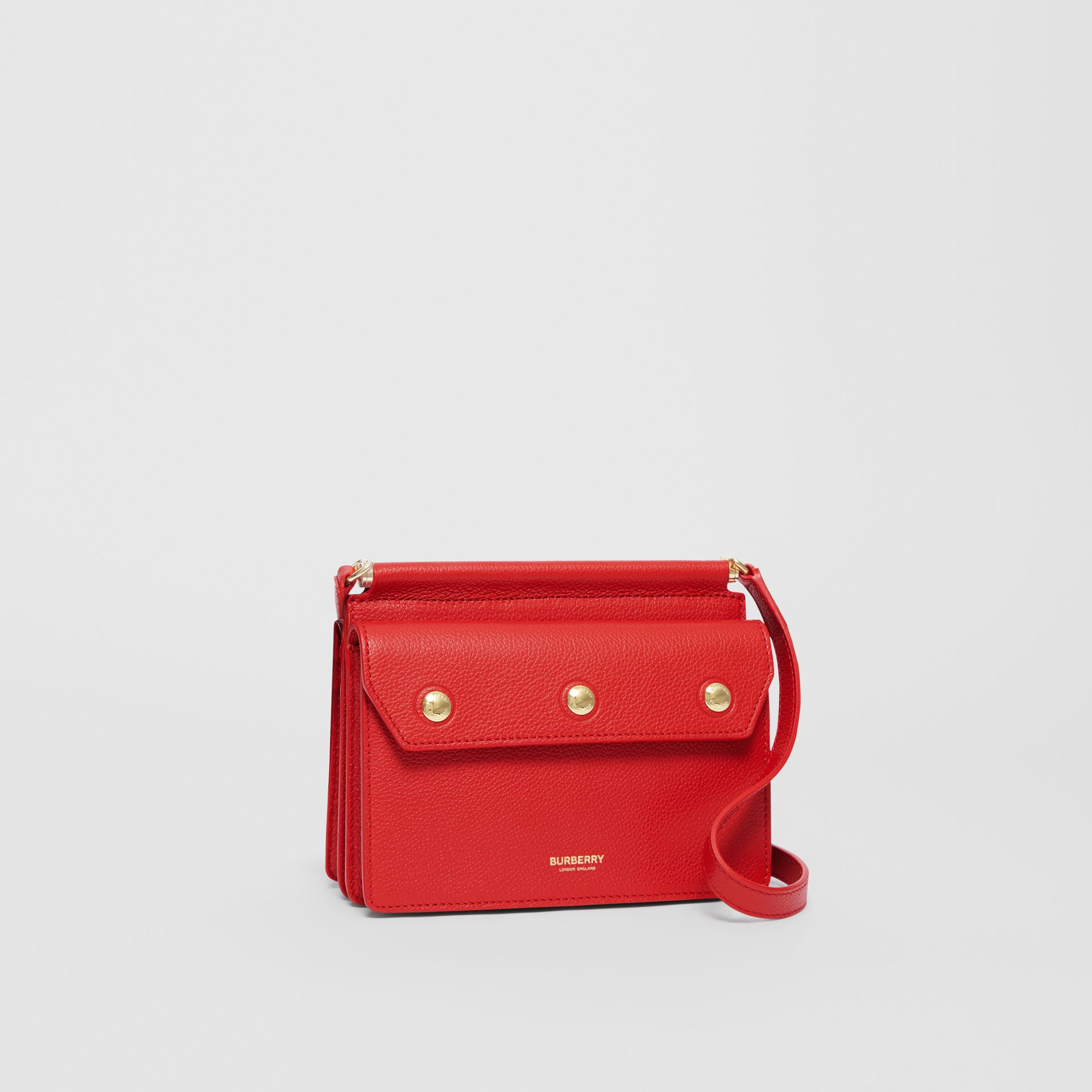 Mini Leather Title Bag with Pocket Detail in Bright Military Red - Women | Burberry Canada - gallery image 6