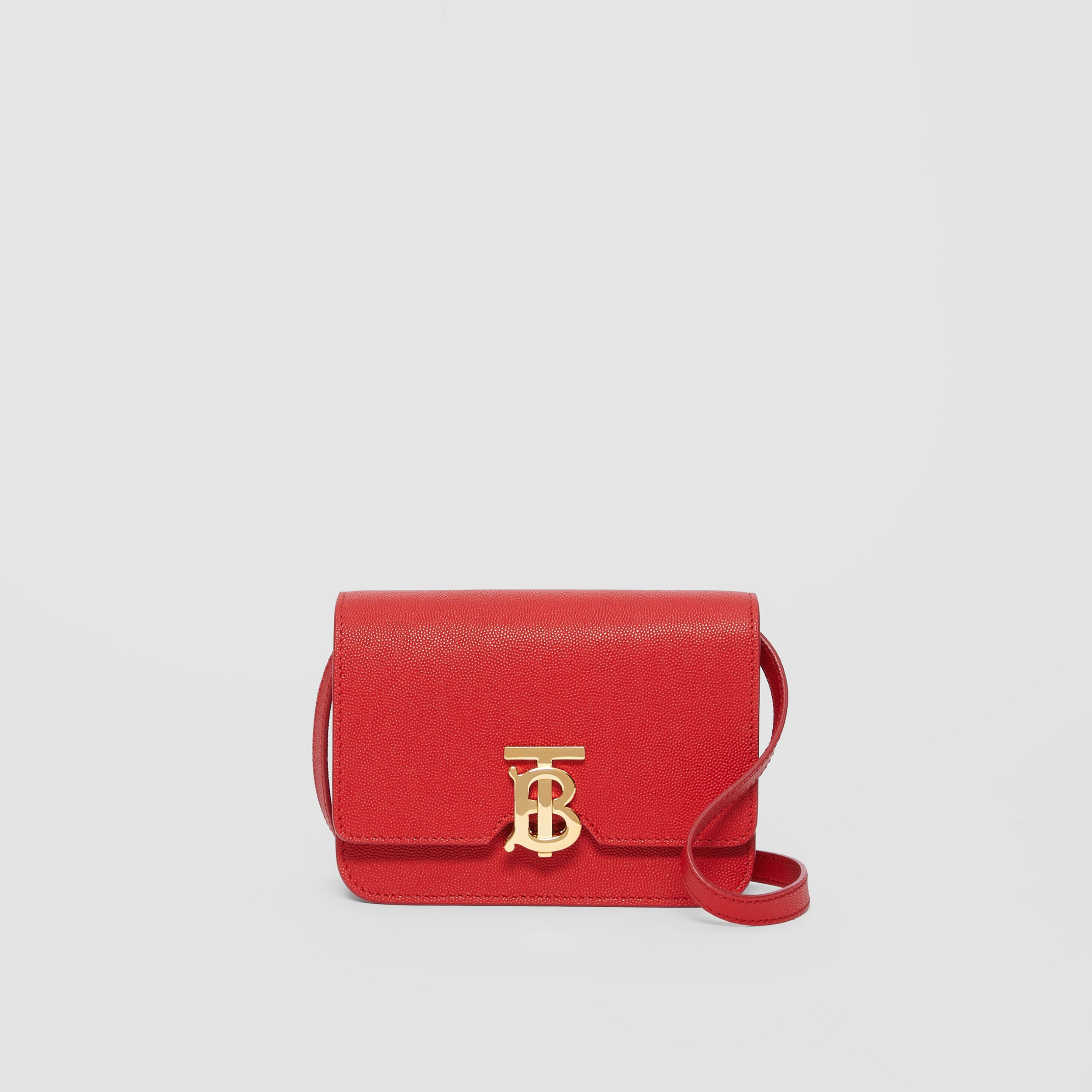 Mini Grainy Leather TB Bag in Bright Red | Burberry - 1