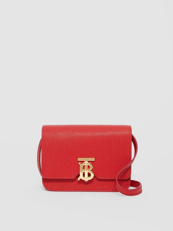 Mini Grainy Leather TB Bag in Bright Red