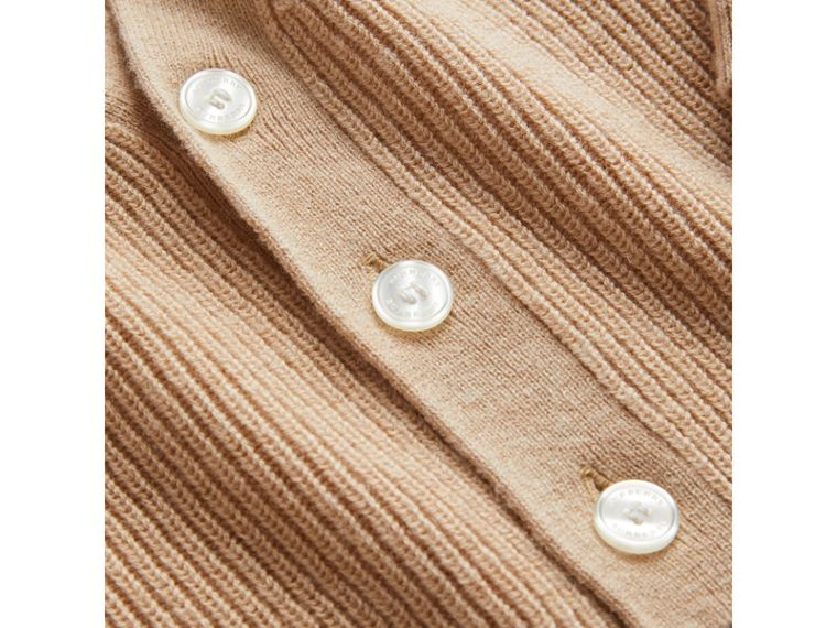 Cashmere Cotton Knit Cardigan in Peach | Burberry - cell image 1