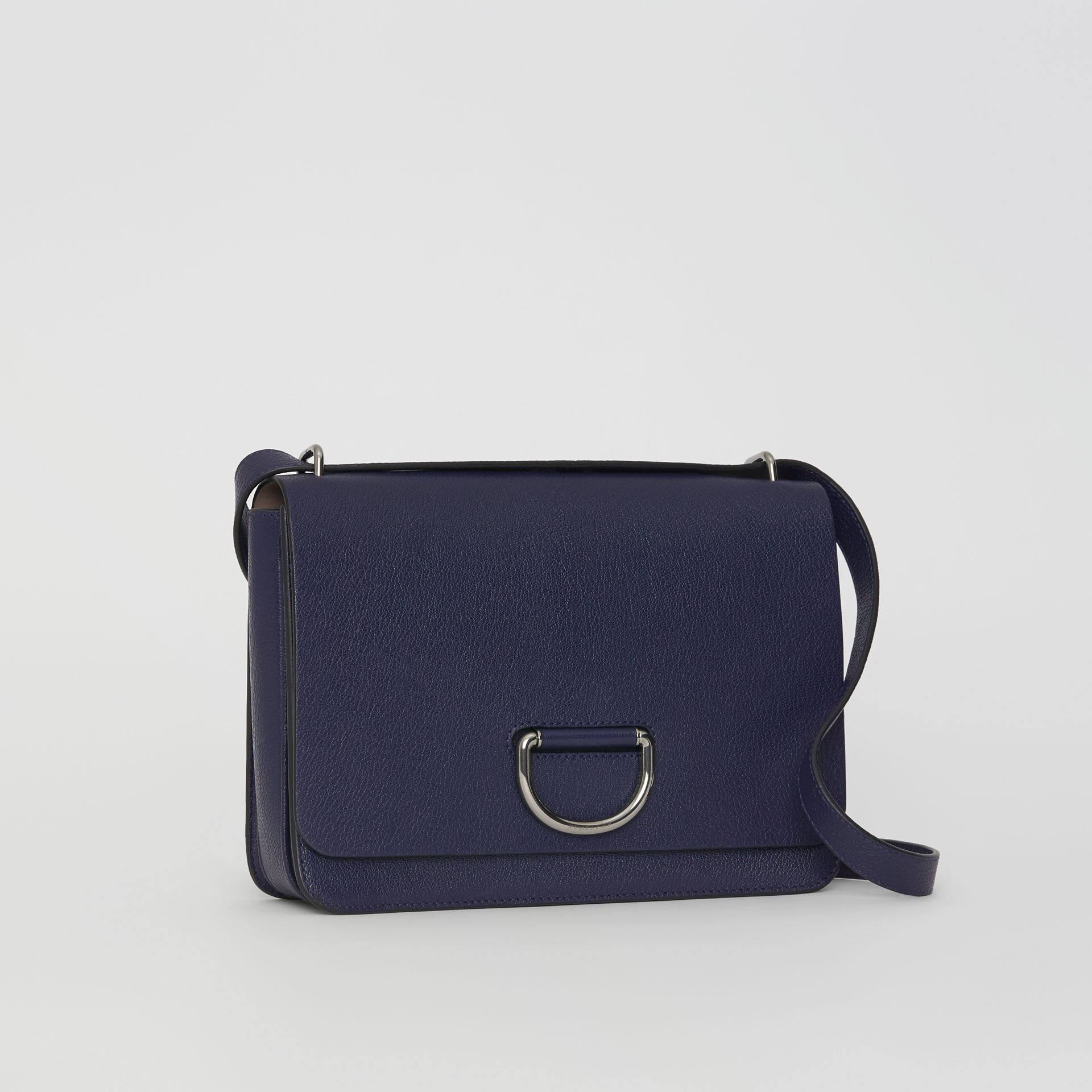 The Medium Leather D-ring Bag in Regency Blue - Women | Burberry Singapore - gallery image 7