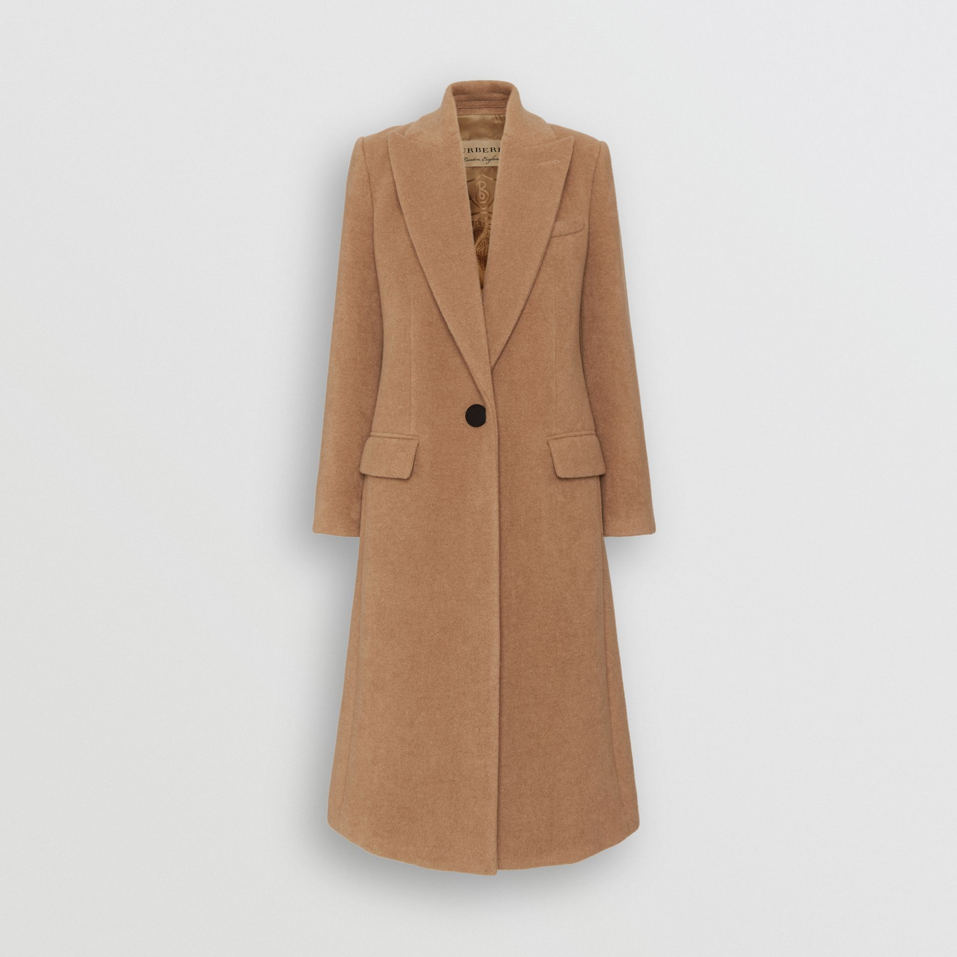 Oversized Lapel Camel Hair Tailored Coat - Women | Burberry United Kingdom - gallery image 3