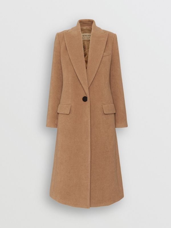 Oversized Lapel Camel Hair Tailored Coat - Women | Burberry United Kingdom - cell image 3