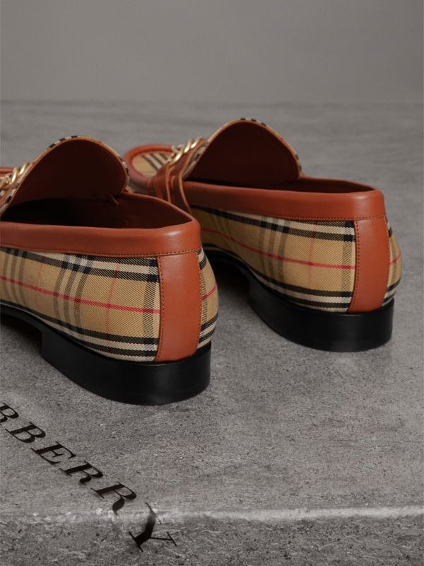 The 1983 Check Link Loafer in Brick Red | Burberry - cell image 3