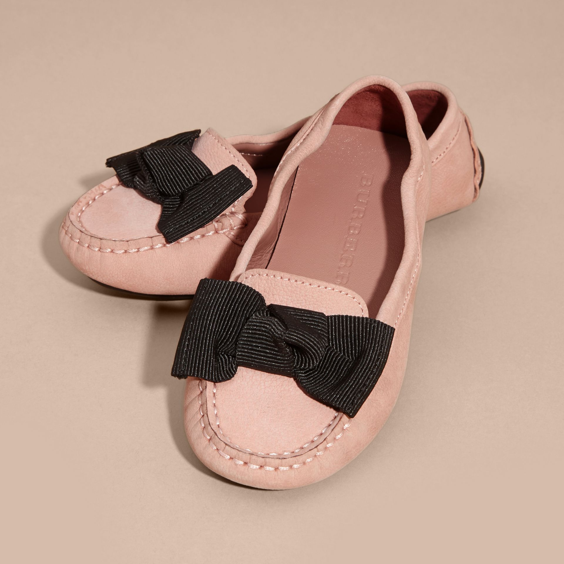 Ash rose Bow Detail Leather Loafer - gallery image 3