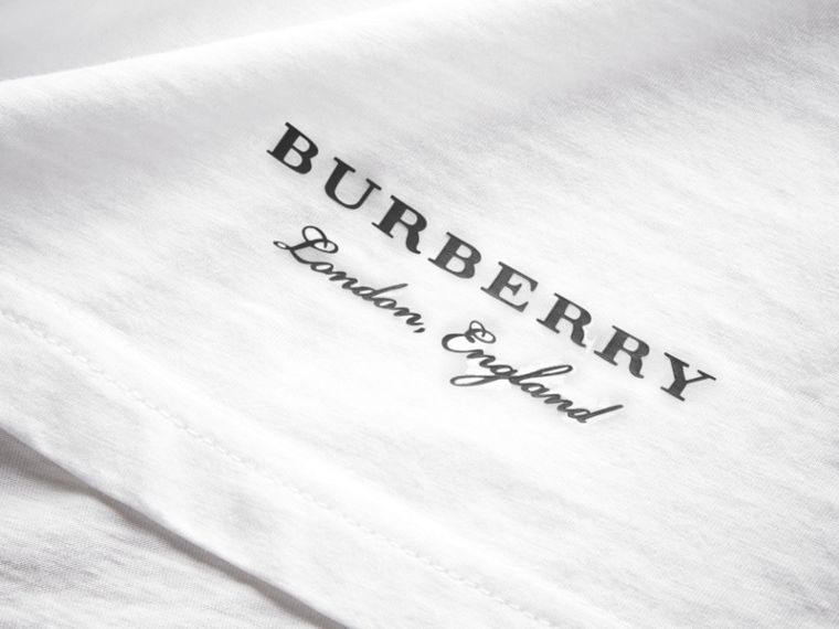 Cotton Jersey Long T-shirt - Men | Burberry Canada - cell image 1