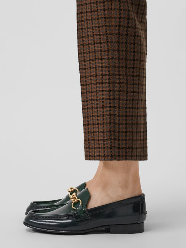 The Leather Link Loafer in Deep Green - Women | Burberry United States - cell image 2