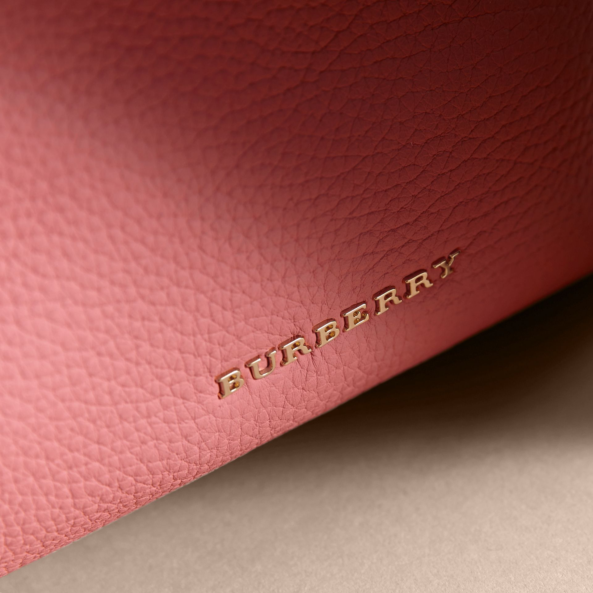 The Medium Rucksack in Deerskin with Resin Chain in Blossom Pink - Women | Burberry - gallery image 6