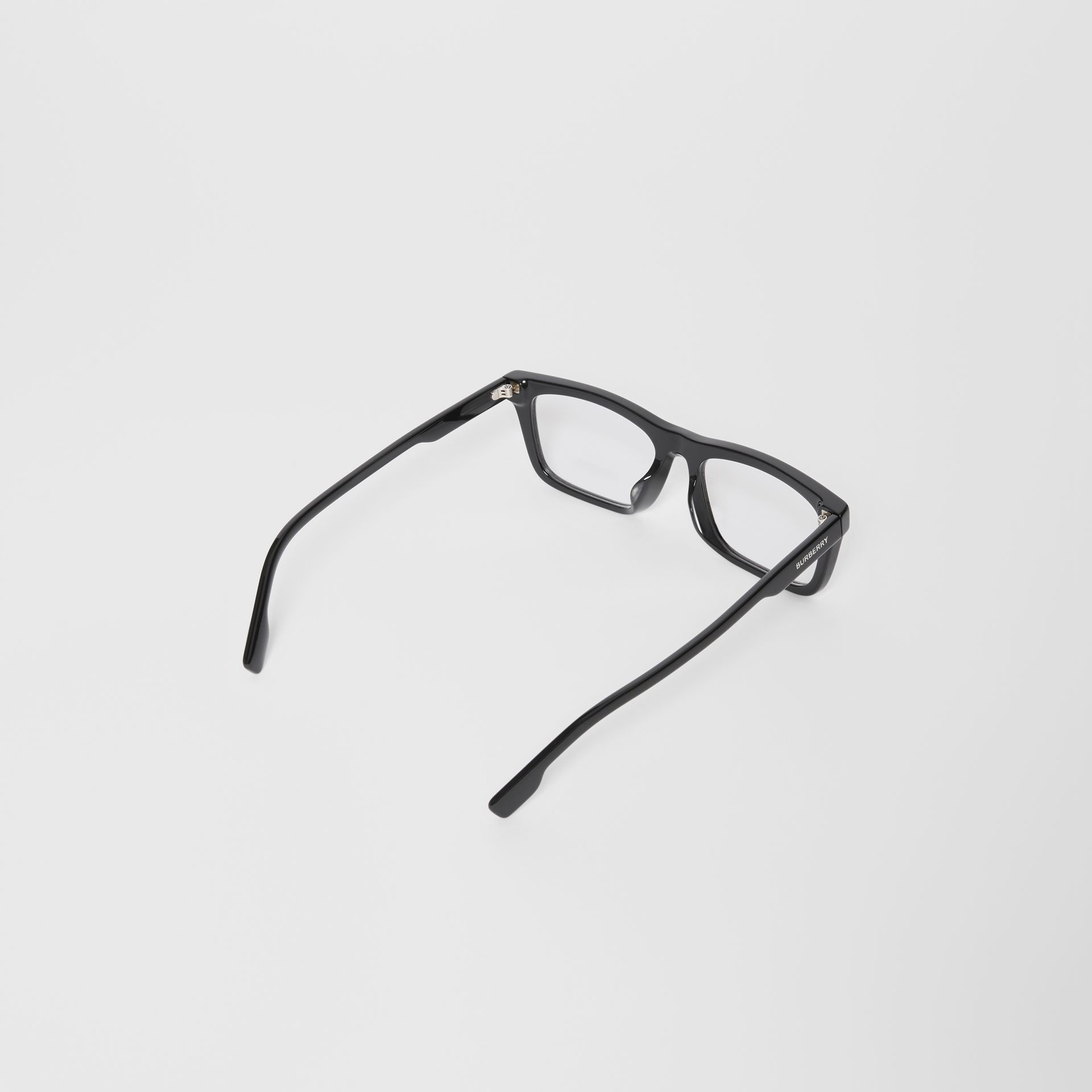 Rectangular Optical Frames in Black - Men | Burberry United Kingdom - gallery image 4