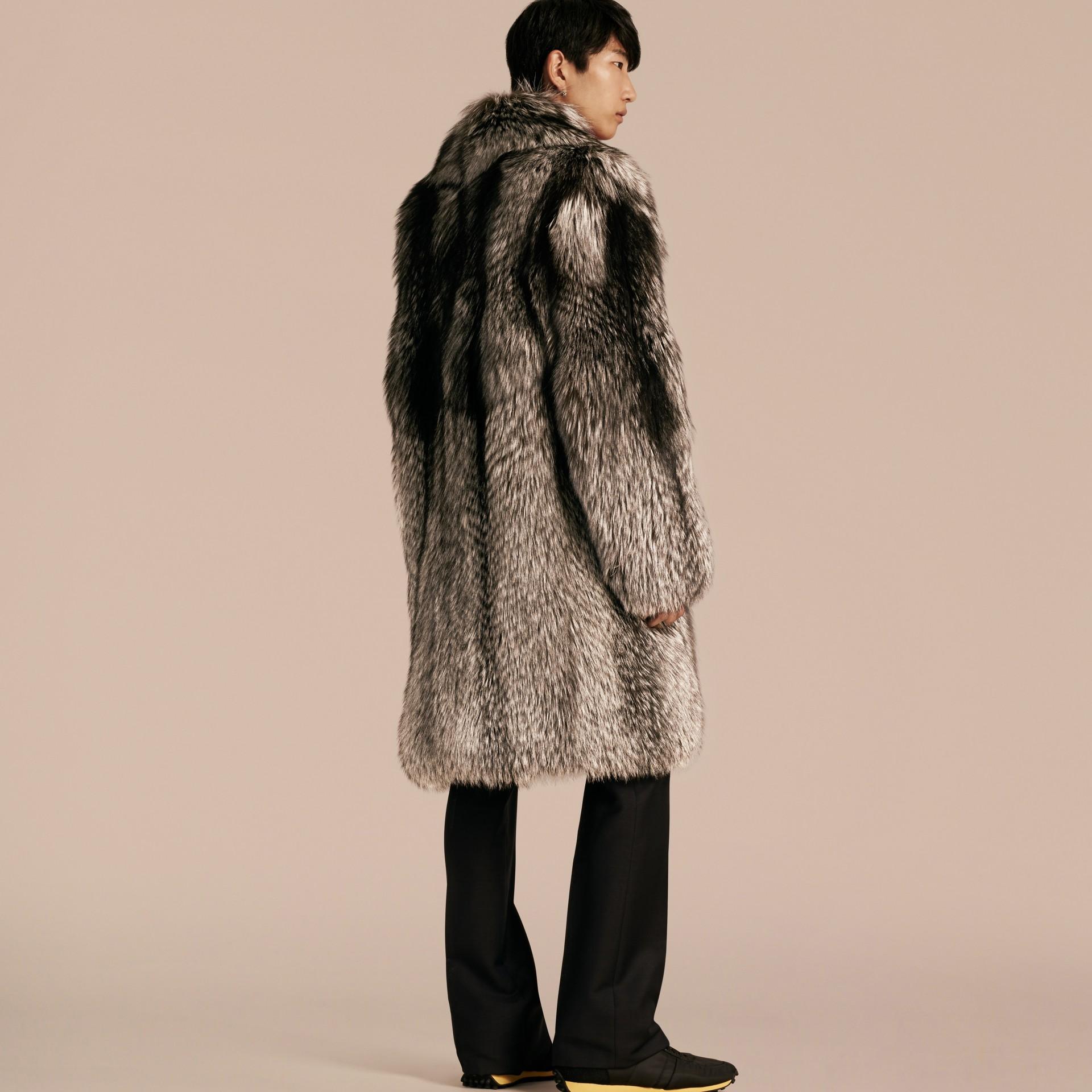 Natural Fox Fur Coat - gallery image 3