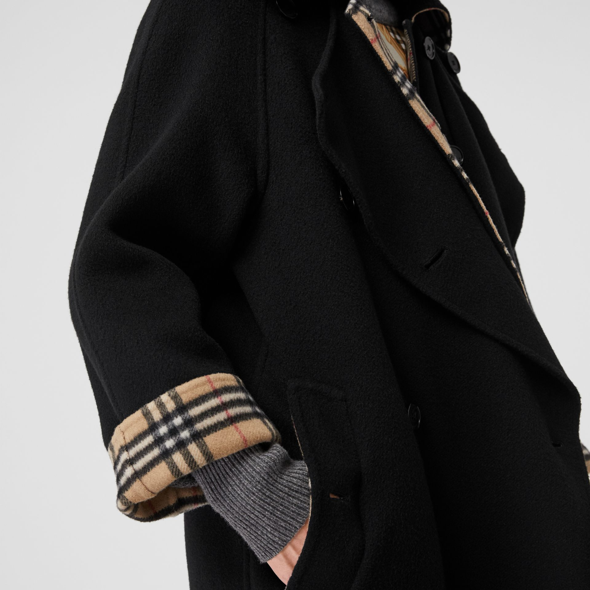 Double-Front Cashmere Car Coat in Black - Women | Burberry - gallery image 4