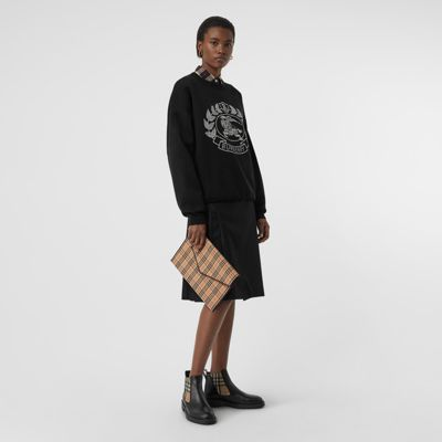 Crest Merino Wool Blend Jacquard Sweater by Burberry