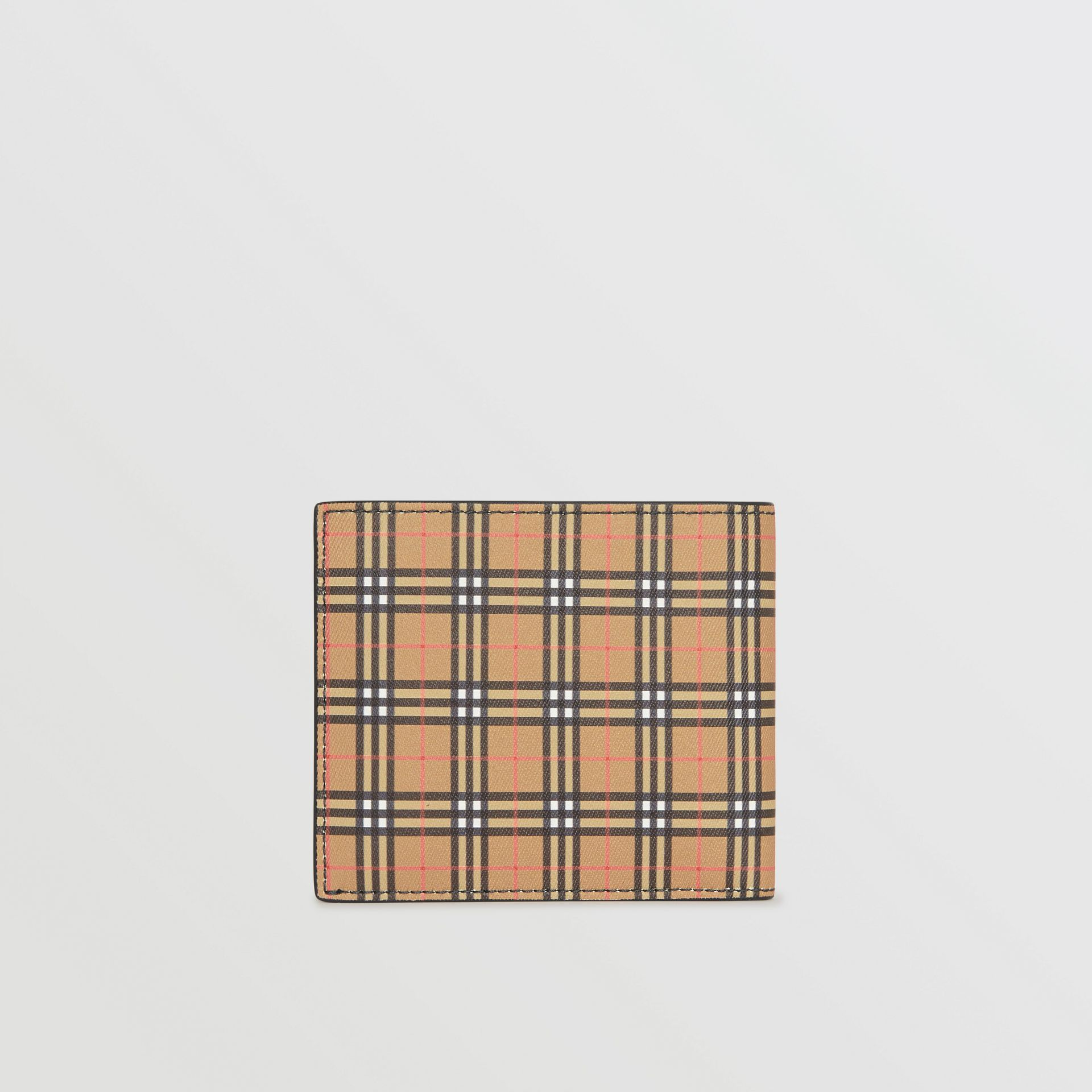 Small Scale Check International Bifold Wallet in Antique Yellow/dark Grey - Men | Burberry - gallery image 2