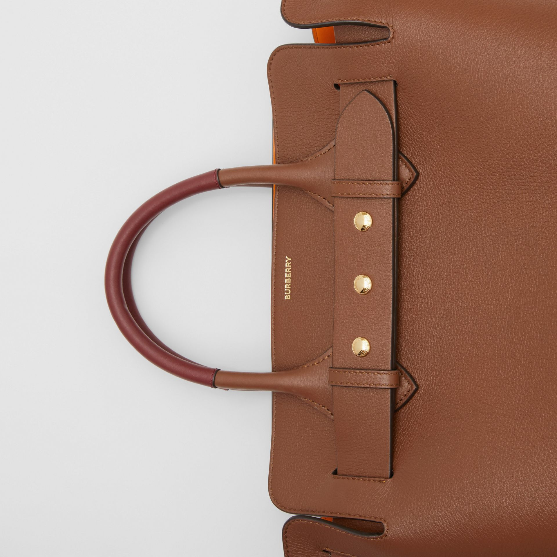 The Small Leather Triple Stud Belt Bag in Tan - Women | Burberry United Kingdom - gallery image 1