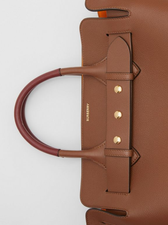 The Small Leather Triple Stud Belt Bag in Tan - Women | Burberry United Kingdom - cell image 1