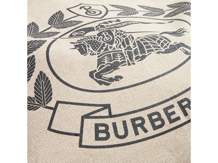 Medium Archive Logo Canvas and Leather Shopper in Black - Women | Burberry - cell image 1