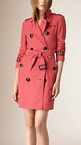 Trench coat de seda