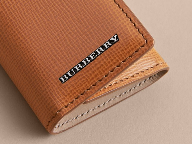 London Leather Key Holder - Men | Burberry - cell image 1